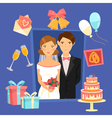 Wedding Design Set of Elements vector image