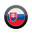Flag of Slovakia Shiny black round button vector image