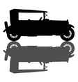 Vintage black cabriolet vector image