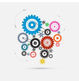 Colorful Cogs - Gears vector image vector image