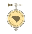 Vintage label South Carolina vector image