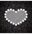 Heart symbol of brilliant diamonds vector image