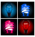 bulb lamp set vector image