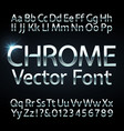 chrome steel or silver letters and numbers vector image