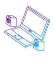 laptop computer with speakers vector image