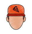 pizza clothes messenger vector image