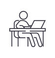 working at tableworkplacemanagement line vector image