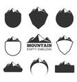 Retro mountain badges set vector image vector image