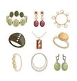 Jewelry icon set vector image