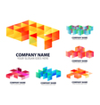 Glossy Digital Corporate Logo vector image