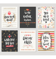Valentines day hand drawn greeting card set vector image vector image