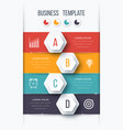 infographics template four options with hexagon vector image vector image