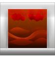 Beautiful - an abstract landsc vector image