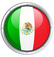 icon design for mexico flag vector image