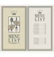 king menu vector image vector image