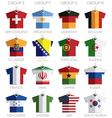 soccer shirts vector image