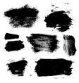 ink brush stains set vector image vector image