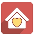 Hospice Flat Rounded Square Icon with Long Shadow vector image