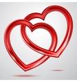 Abstract two shiny hearts shapes vector image