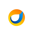 circle round abstract technology logo vector image