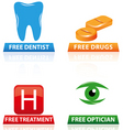 hospital icons and symbols vector image