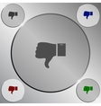 Like and Dislike button vector image