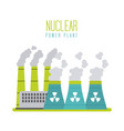 nuclear power plant energy station generation vector image