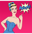 Pop Art Style Woman Gesturing Great vector image