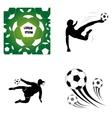 Set of soccer elements vector image