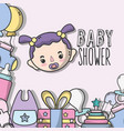 baby shower invitation to birth of a girl vector image