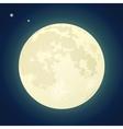 Full Moon on a Dark Blue Sky vector image