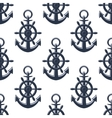 Sea anchors seamless pattern vector image vector image
