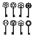 Collection of keys vector image vector image