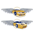 race car emblem vector image vector image