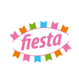Abstract logo with flags for the fiesta vector image