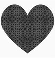 black piece jigsaw puzzle heart love vector image