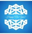 Blue Paper Snowflake Postcard vector image