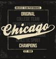 chicago sportswear emblem athletic university vector image