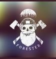 forester lumberjack print vector image
