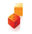 Isometric icon of dice vector image