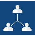 Organisational chart corporate hierarchy vector image