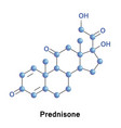 Prednisone is a synthetic corticosteroid vector image