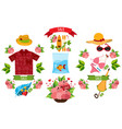 sale beach theme summer items clothing and vector image