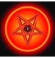 The Eye of Satan in The Metal Pentagram vector image
