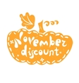 Pumpkin fall discount vector image