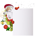 santa paper vector image vector image