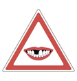 sign toothless people vector image