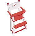wooden high chair vector image