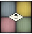 Set of vintage striped patterns vector image vector image