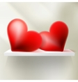 Valentines day card background EPS 10 vector image